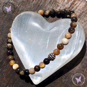 Men's Petrified Wood Bracelet